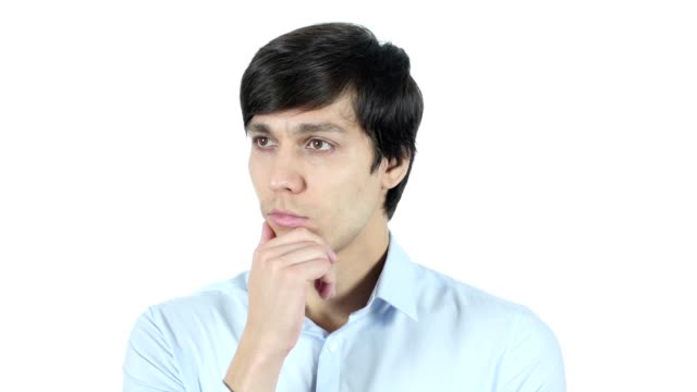 Thinking, Portrait of Pensive Businessman, Planning video
