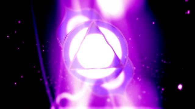 Third Eye Chakra Ajna Mandala Spins in Energy Field video