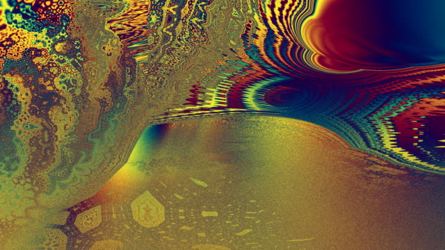Caribbean sunset in gaudy colours fractal HD video video