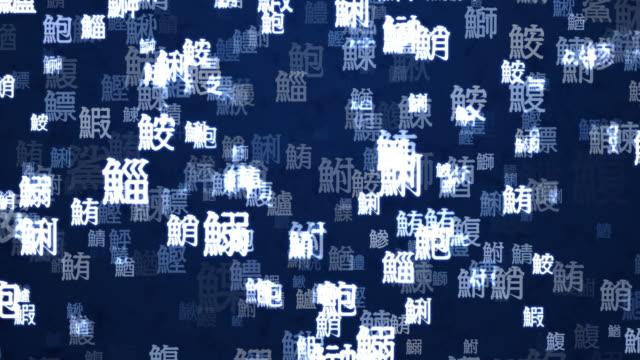 このモーショングラフィックは日本の伝統的な寿司店のカップパターン[ループ] - 習字点の映像素材/bロール