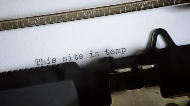 This site is temporarily unavailable with an manual typewriter