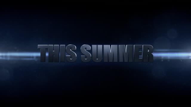 this summer - movie title - intoning bildbanksvideor och videomaterial från bakom kulisserna