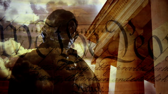 vidéos et rushes de thomas jefferson memorial composite - patriotisme