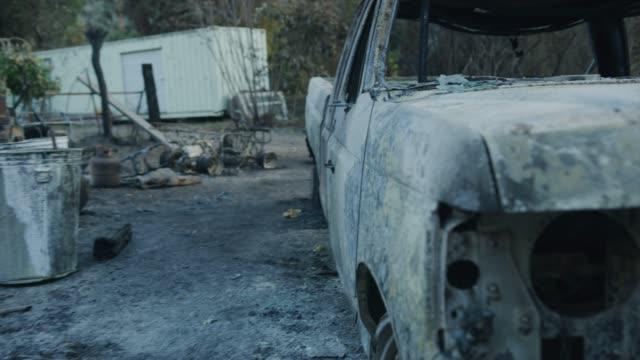 vídeos de stock e filmes b-roll de thomas wildfire aftermath - cinza