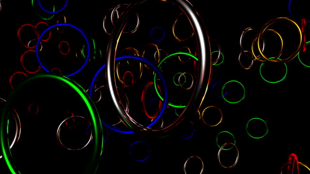 Thousand coloured rings video