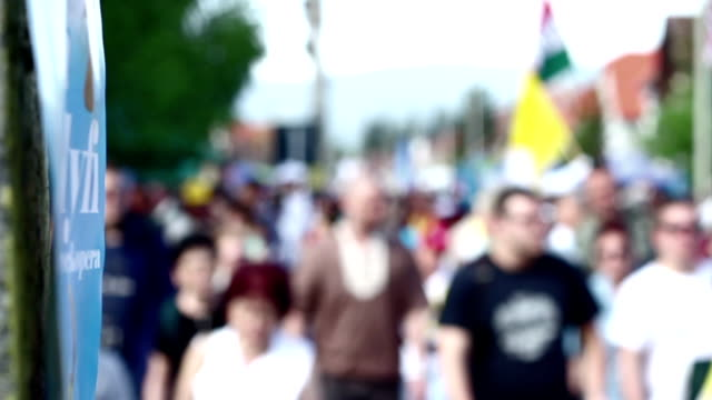 Thousands of People Marching video