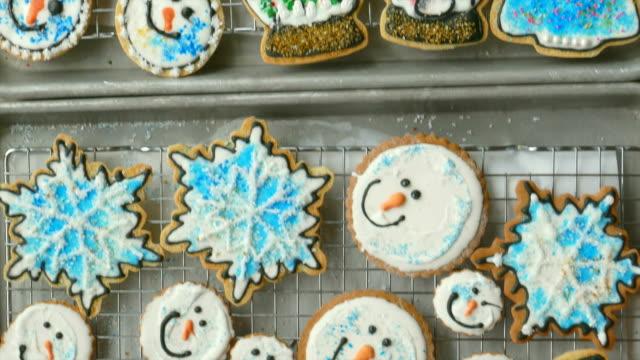 Three Big Trays of Fresh-Baked Christmas Cookies video