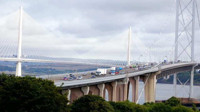 Three bridges near Edinburgh, Fife County, Scotland video
