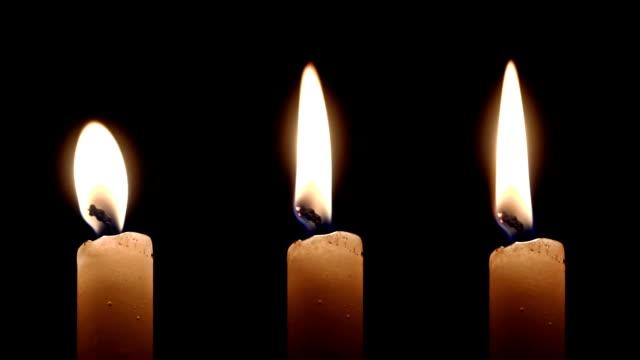 Three burning Candles video