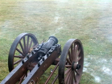 Three cannons firing video