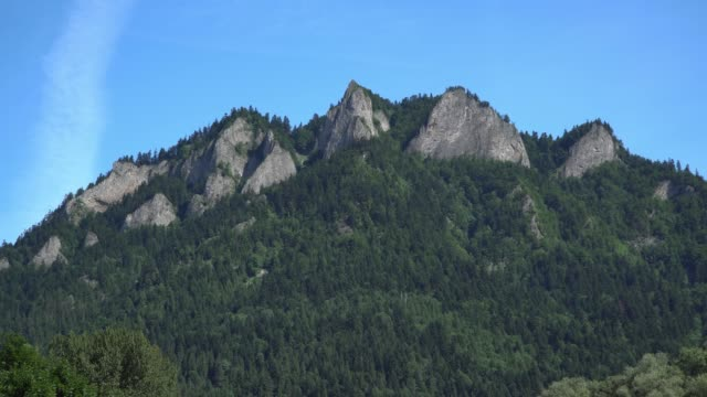 Three crowns mountain view in Slovakia. zoom in