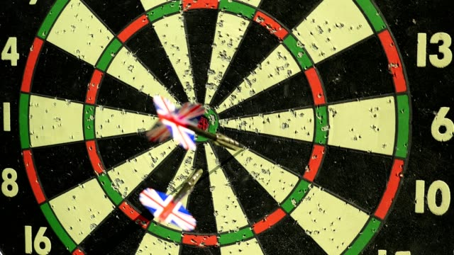 Three Darts Hitting The Hanging Board video