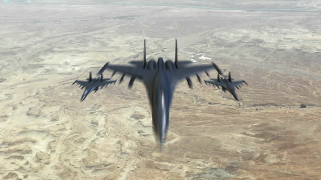 Three Fighter Jets Flying To The Camera video