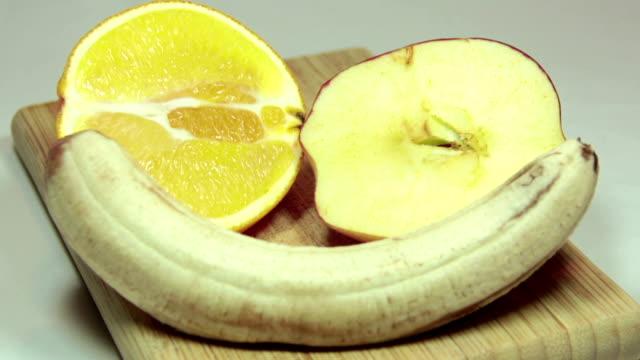 Three Fruit Decaying Timelapse video