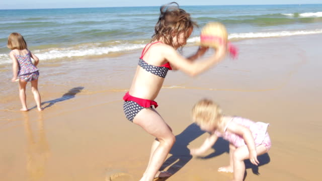 Three Girls Splashing In the Sea video
