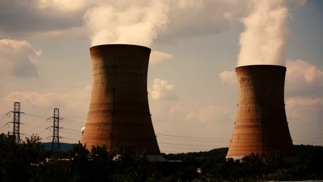 centrale nucleare di three mile island - reattore nucleare video stock e b–roll
