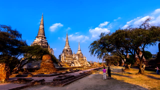 Three pagoda in Ayutthaya, Thailand video