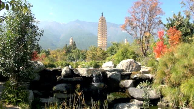 3 つの仏塔でダリ、中国 - 仏塔点の映像素材/bロール