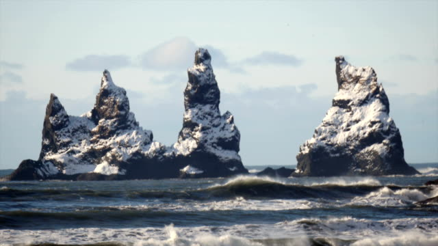 Three Pinnacles Vik Reynisdrangar video