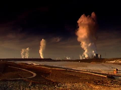 three power plants ntsc - klip uzunluğu stok videoları ve detay görüntü çekimi