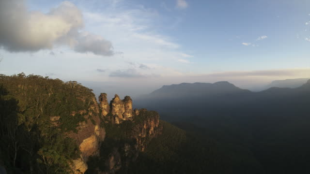 Three Sisiters HD timelapse. The Blue Mountains. Sydney video