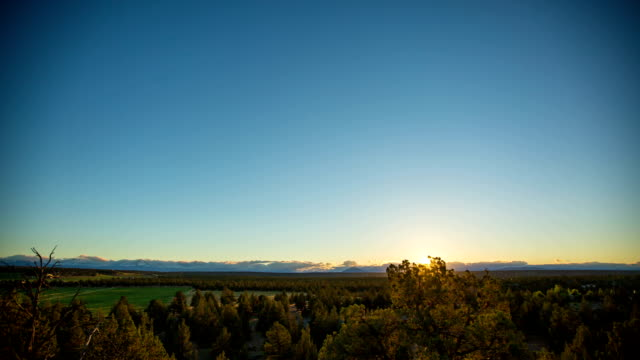 Three Sisters Mountains Time lapse of three sisters mountains in bend oregon. bent stock videos & royalty-free footage