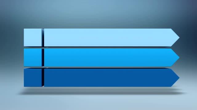 drei platz intro titel im feld diagramm, präsentation vorlage.version 2 - spruchband stock-videos und b-roll-filmmaterial