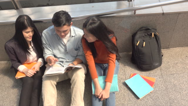 Three Students Read Book video