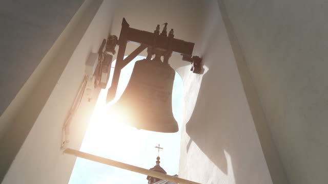 Three videos of church bells in 4k video