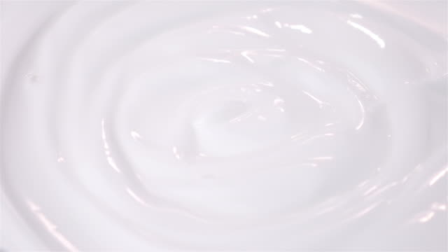 Three videos of swirling yogurt in 4K video