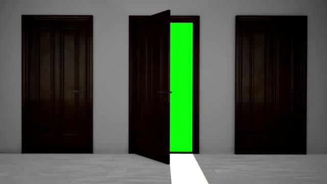 three wooden doors - brun beskrivande färg bildbanksvideor och videomaterial från bakom kulisserna