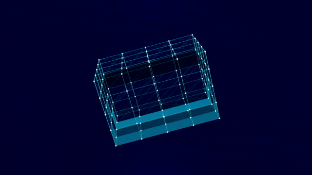 Three-dimensional box forming in space video
