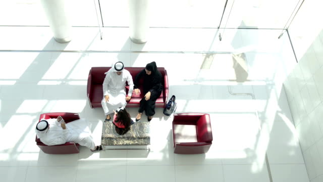 Three-generation Emirati family on the lounge video