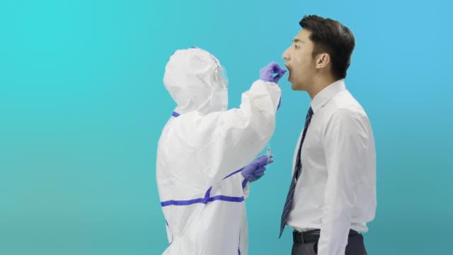 Throat culture sampling