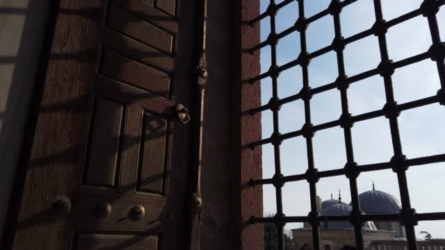 Through The Window of Selimiye Mosque, Edirne, Turkey 16th Century Islamic Architecture in Edirne, Turkey wrought iron stock videos & royalty-free footage