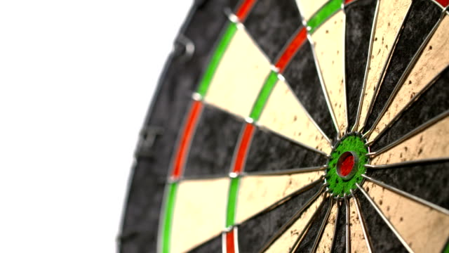 Throwing a inner bulls-eye in darts video