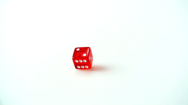 Throwing dice, Slow Motion video