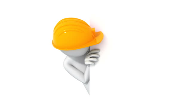 Thumbs Up! 3d man in a hard hat video
