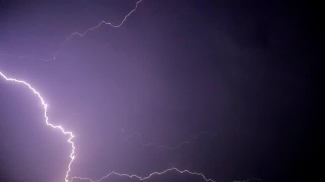 thunder lightnings and storm video