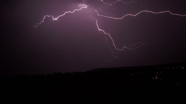 thunder storm at night - fulmine video stock e b–roll