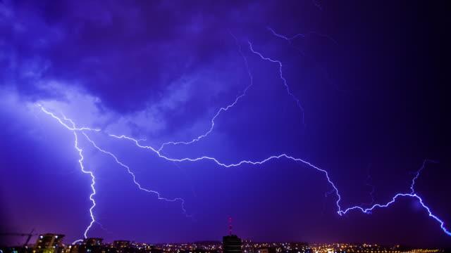 雷暴閃電時間失效 - lightning 個影片檔及 b 捲影像