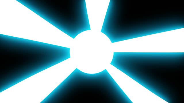 천둥 태양 광선 전환 만화 애니메이션 손으로 그려. - 플래시 스톡 비디오 및 b-롤 화면