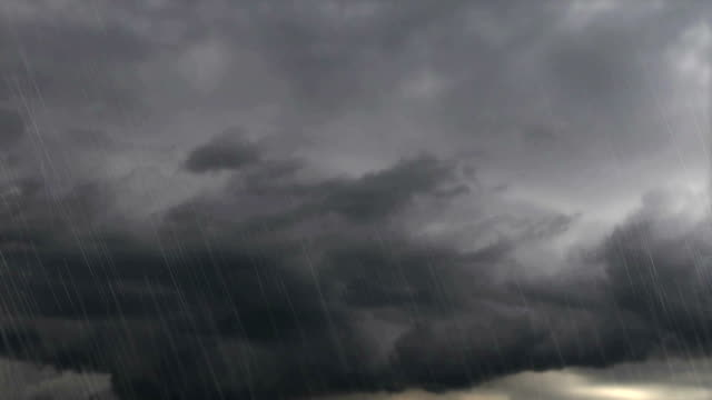 Thunder weather changes, lightning strikes, rains showers video
