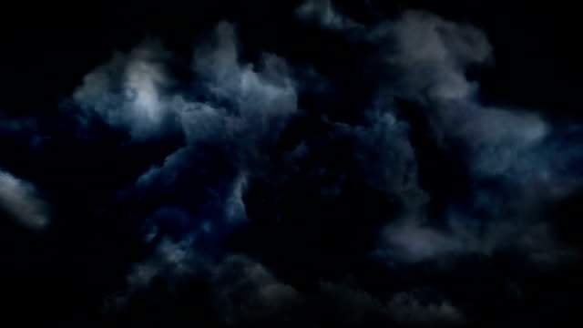 Thunderstorm clouds video