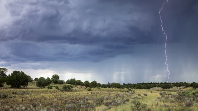 Thunderstorm in Arizona - Time Lapse video
