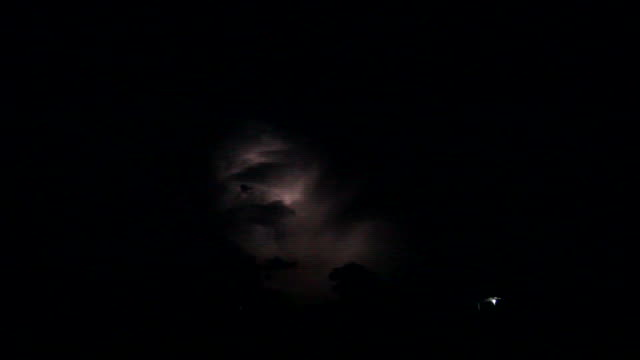 Thunderstorm in the night video