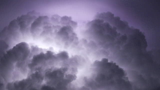 Thunderstorm real time 4K close up