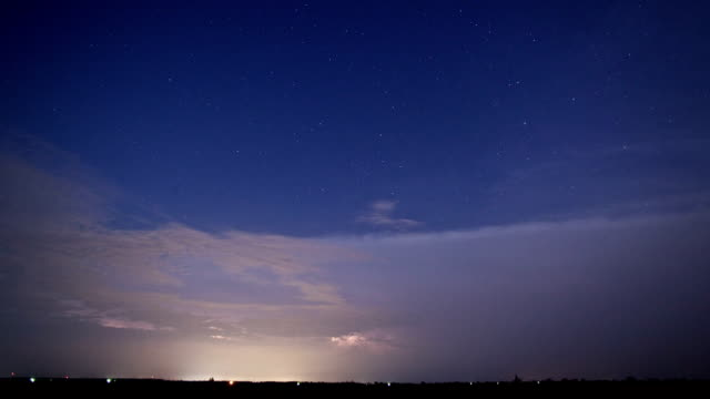 Thunderstorm Time Lapse with Stars video