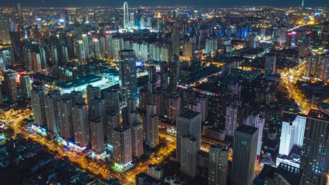 stockvideo's en b-roll-footage met tianjin stadsgezicht hyperlapse - japan
