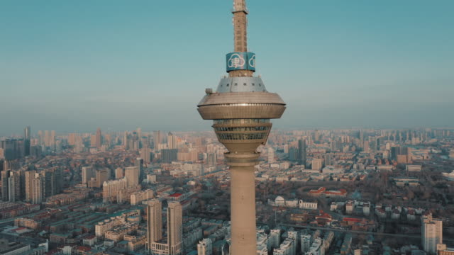 Tianjin television and radio broadcasting tower video